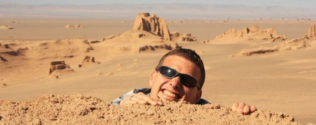 Kerman en de zandformaties van de Kaluts