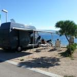De camper in Kroatië