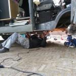 Chassisbalk verwijderen