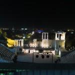 Theaterzaal bij nacht