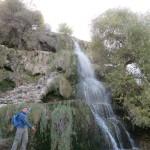 Stefan met zijn waterval