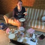 Ontbijtje op de hotelkamer