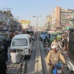Drukte op straat in Rawalpindi