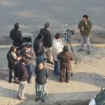 Journalisten en camerawagens overal