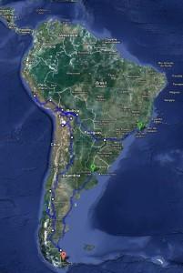 route globaal